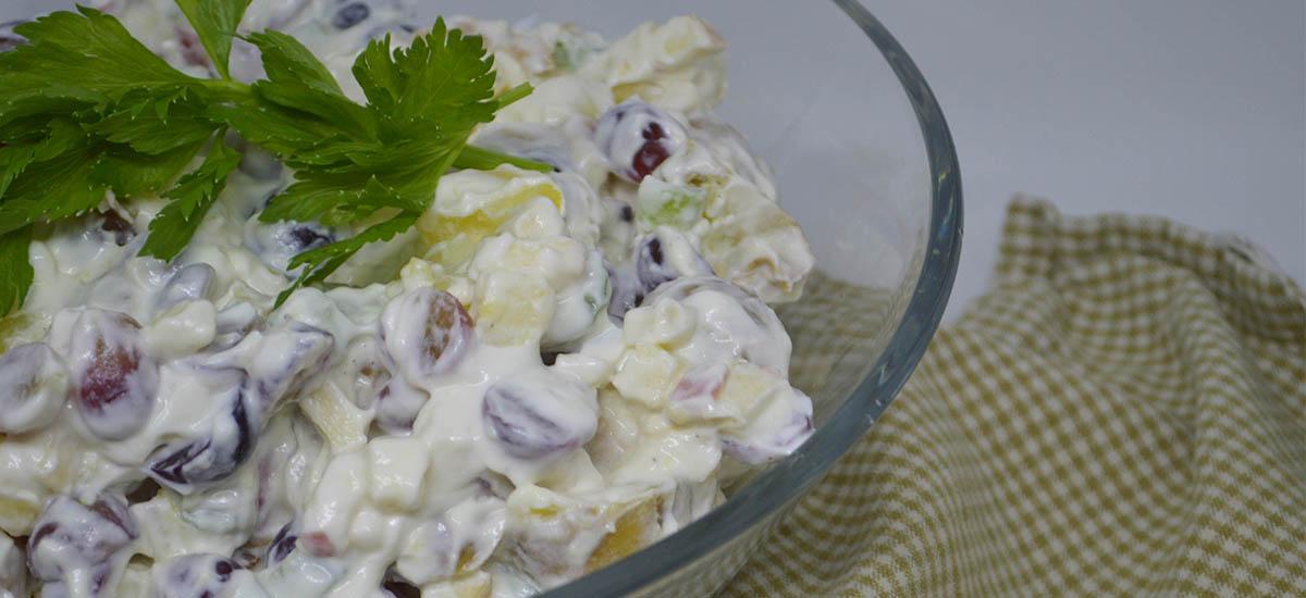 Lækker Kartoffelsalat Ala Waldorf Style Hverdagsrodk