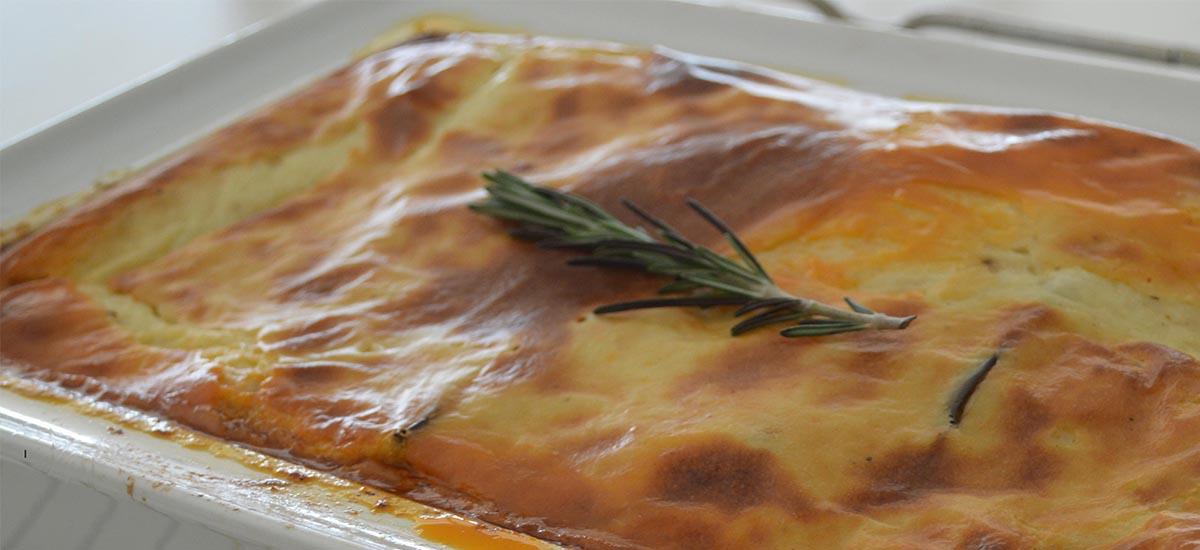 Moussaka med parmesan
