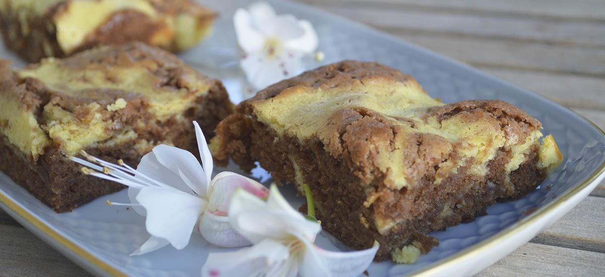 Brownies med creme cheese swirl