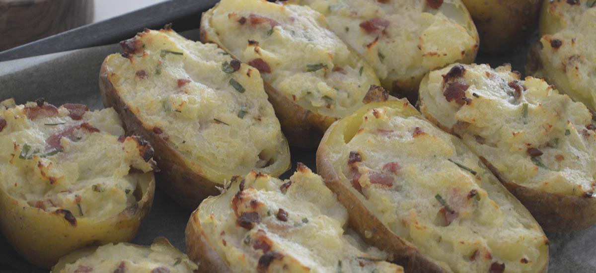 Fyldte bagte kartofler