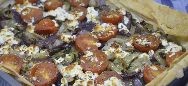 Grønsagstærte med filode
