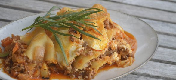 Napolitansk inspireret lasagne