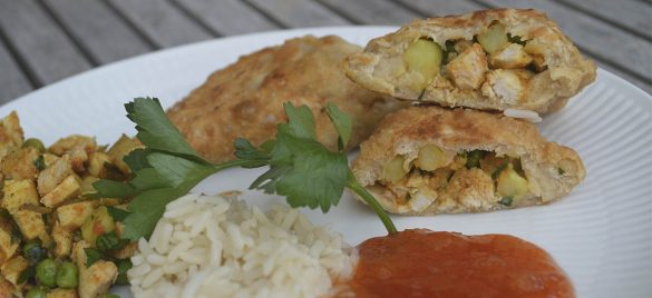 Samosas med tandoori kylling