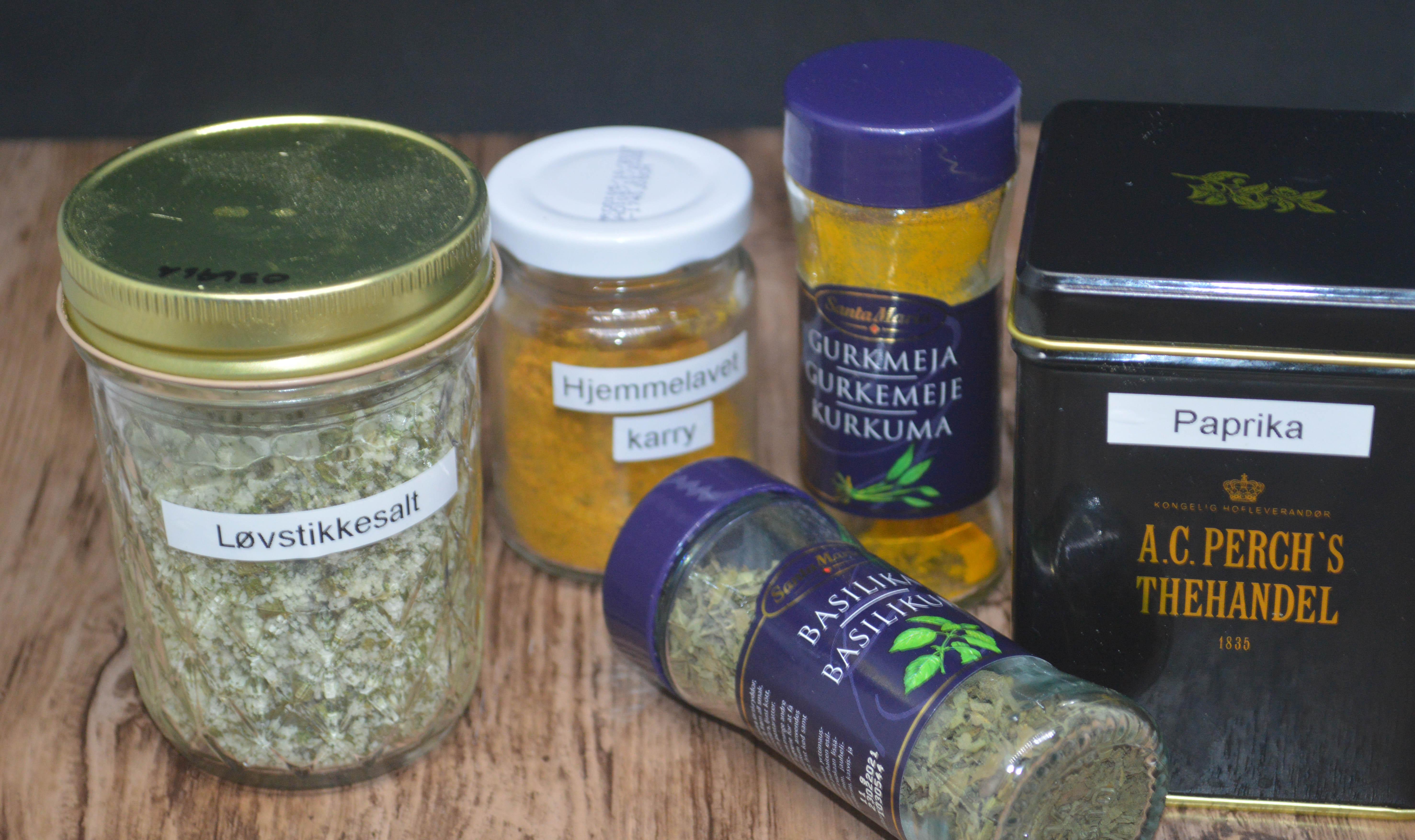 Krydderier til linsefrikadeller