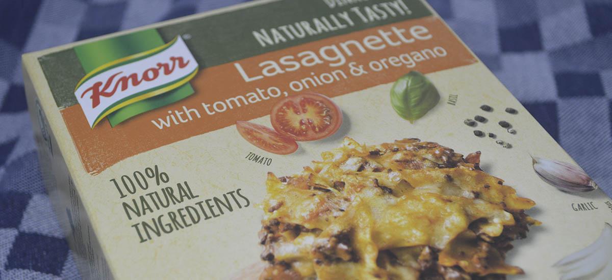 Knorrs Lasagnette mealkit