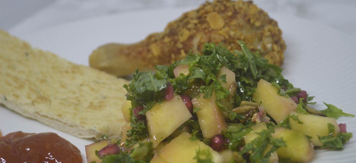 Grønkålssalat med mango