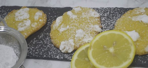 Citron crinkle cookies