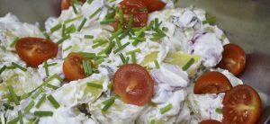 Frikadeller med kold kartoffelsalat