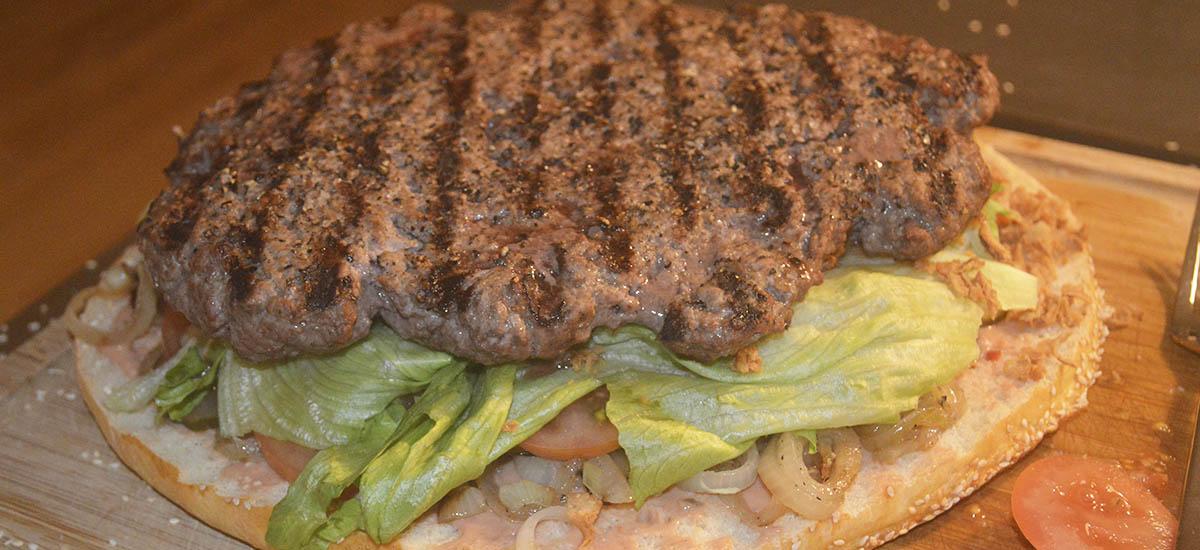 Kæmpe burger - bøffen