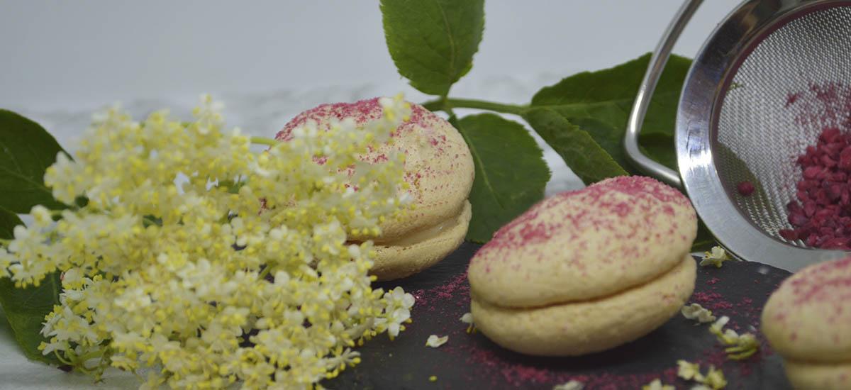 Hyldeblomst macarons