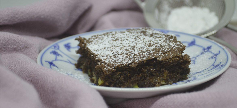 Brownie med rabarber