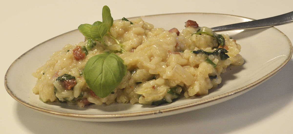 Risotto med bacon